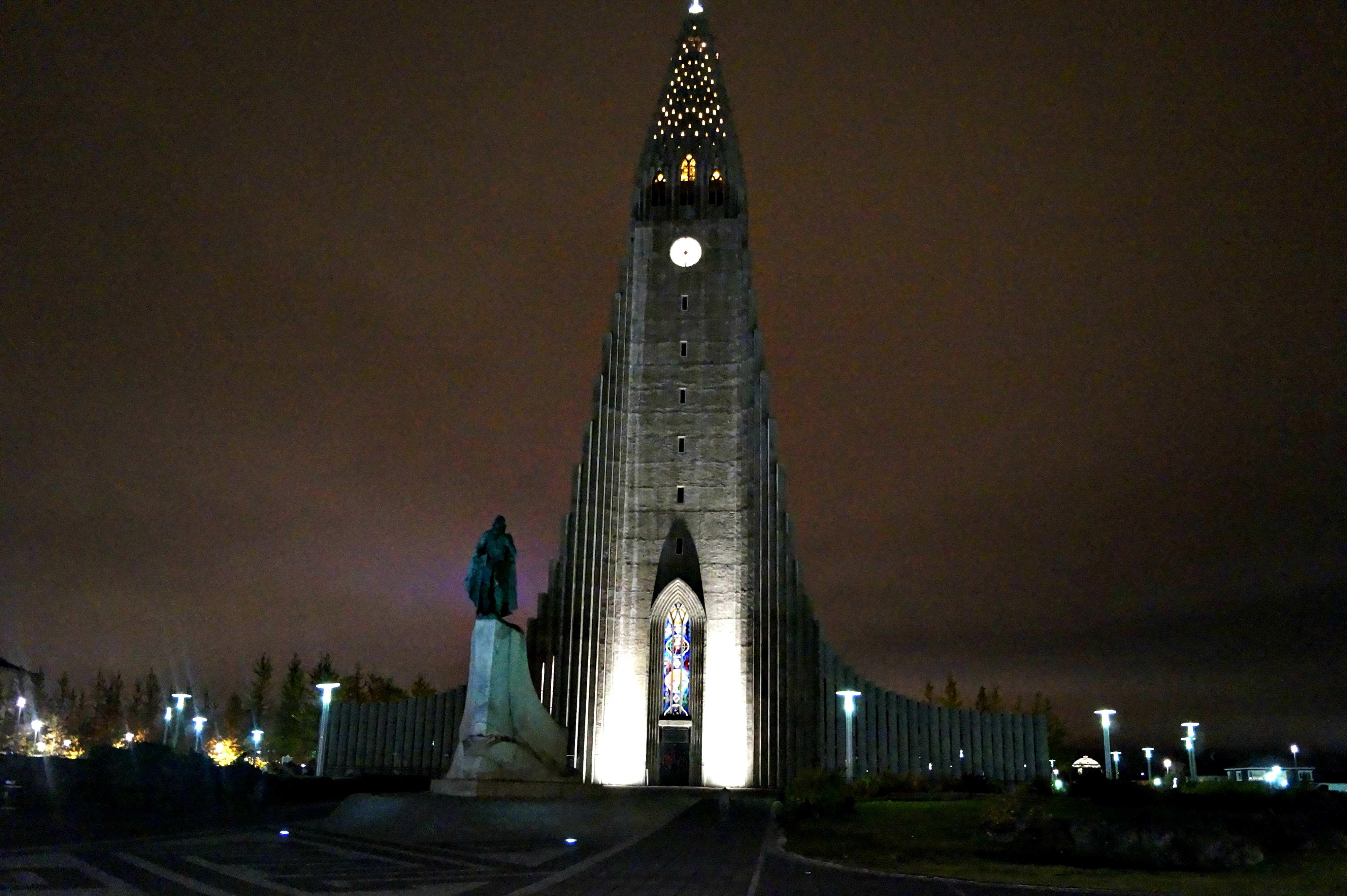 Hallgrímskirkja, Reykjavik by night