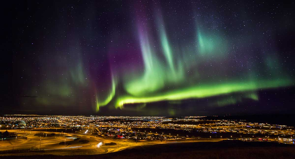 Reykjavik, northern lights, source: ambassador.is