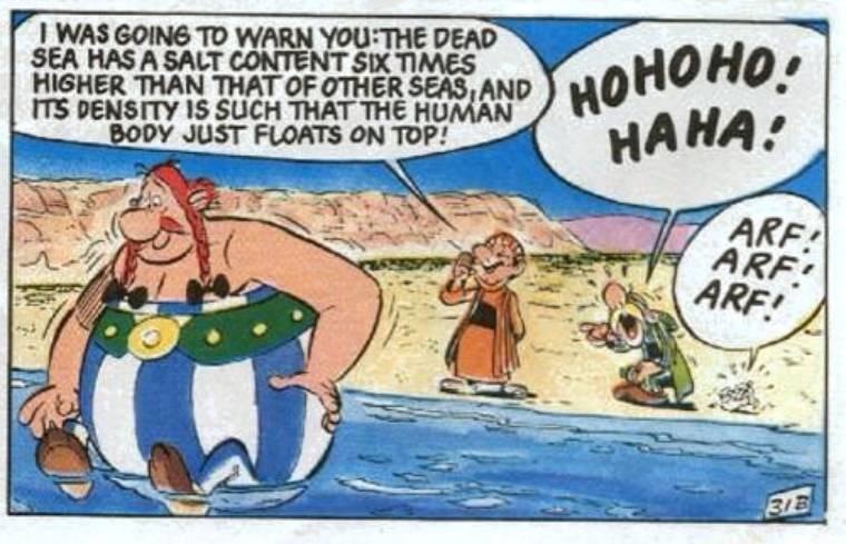 Odyseja Asterixa, morze martwe