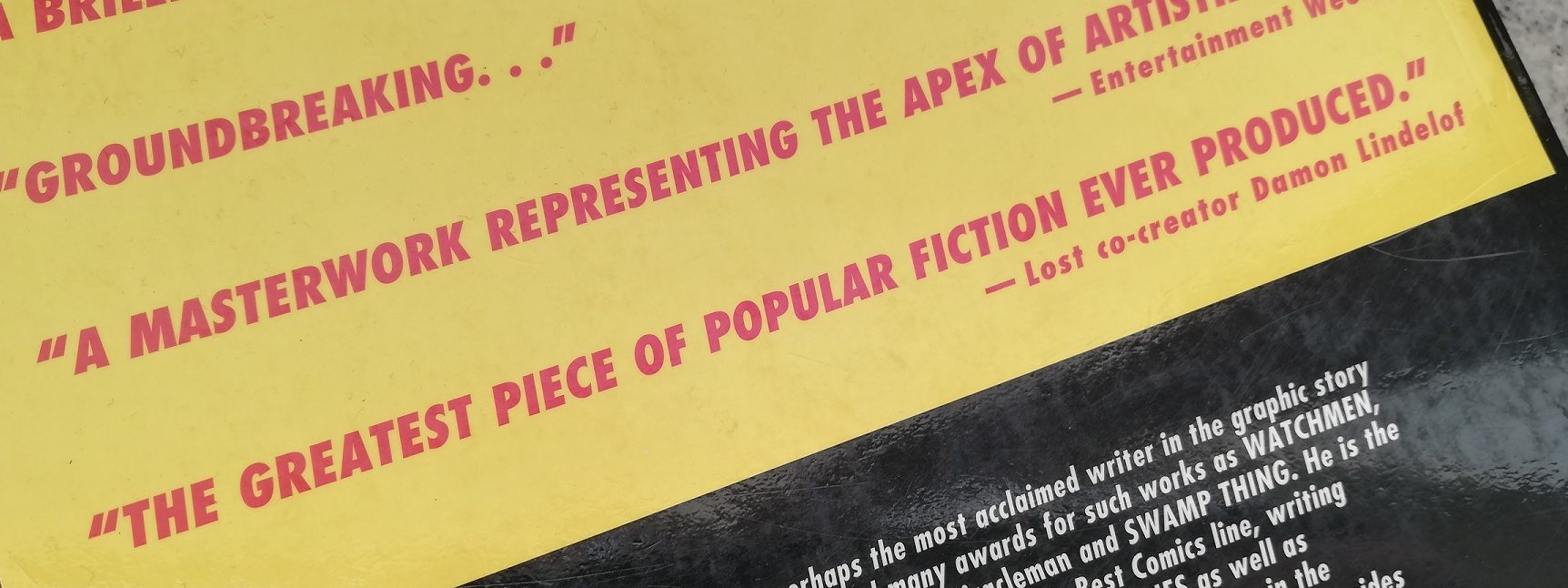 watchmen damon lindelof blurb